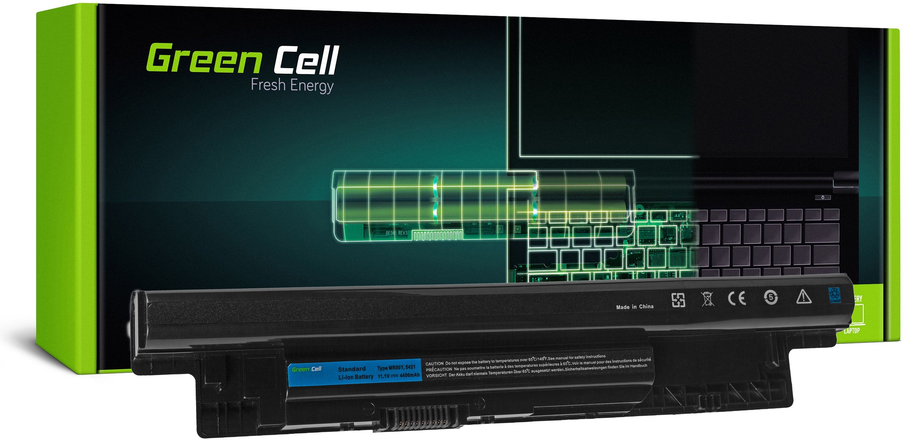 Bateria Green Cell MR90Y XCMRD do Dell Inspiron 15 15R 17 17R