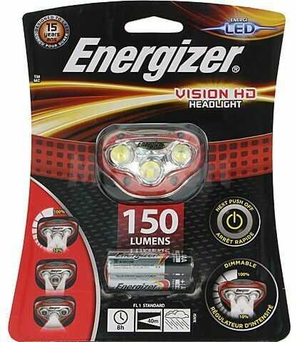 Latarka czołowa LED ENERGIZER VISION HD wodoodporna 8h 150lm