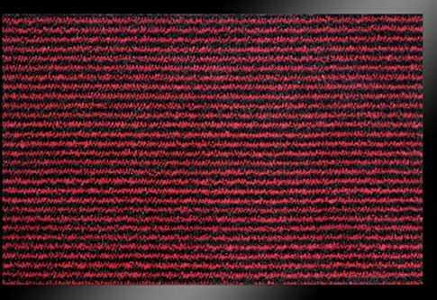 ID mat t Ligna, włókna syntetyczne, czerwony, 60 x 80 x 0,7 cm