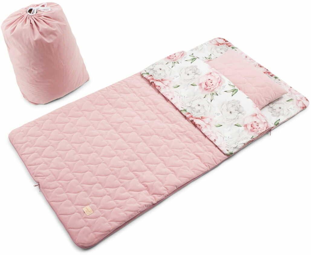Śpiworek w Piwonie dla dziewczynki - Bawełna Premium/Velvet Pikowany