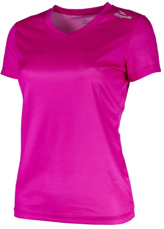 Rogelli Damska koszulka do biegania Promo, Roze, 2XL
