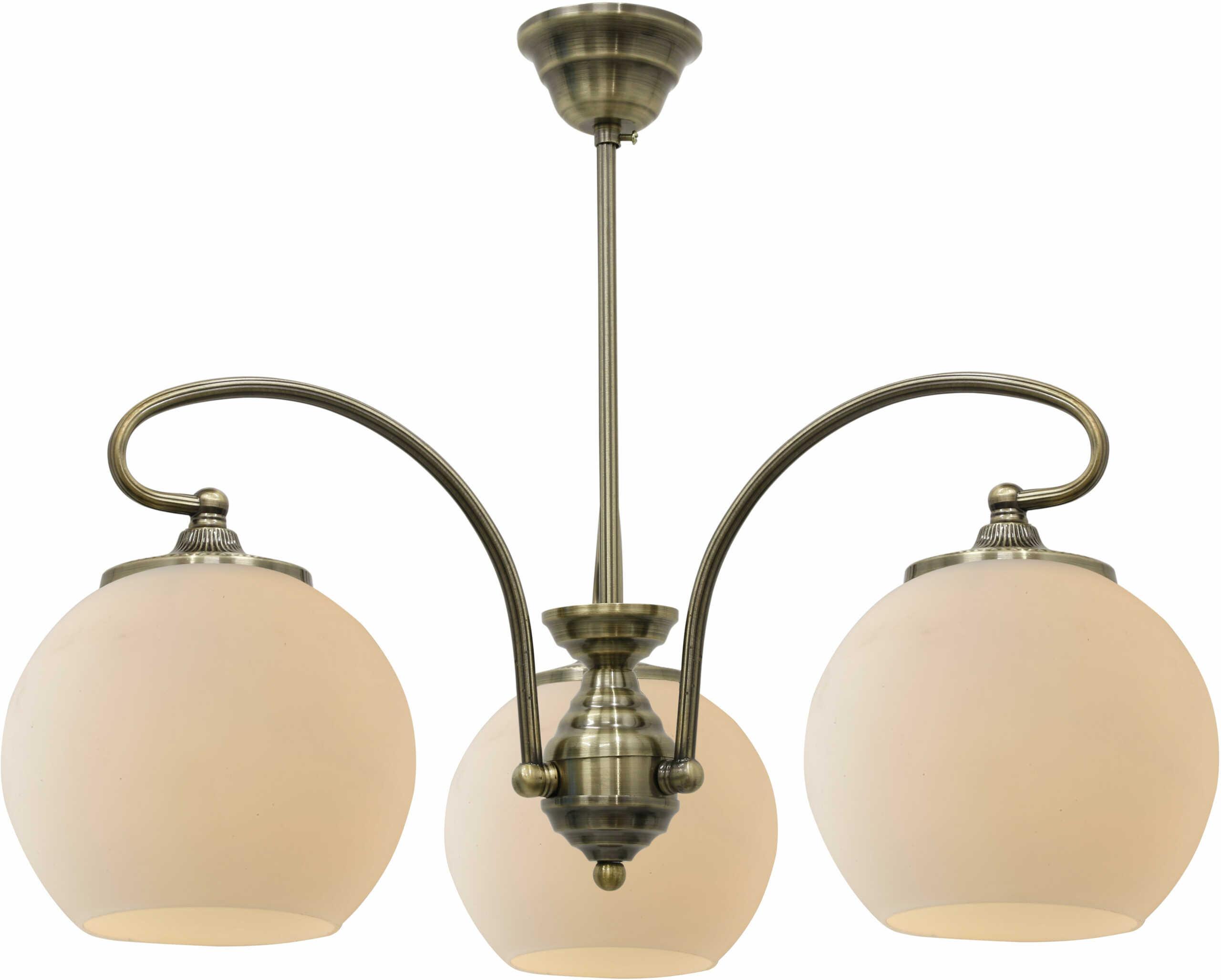 Candellux ORBIT 33-69351 lampa wisząca patynowa miedź 3X60W E27 51cm