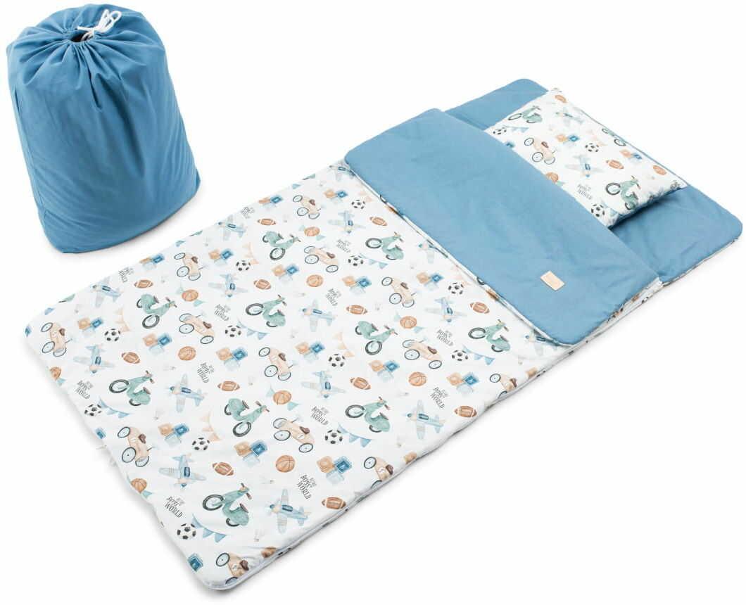 Śpiworek dziecięcy Retro Boys - Bawełna Premium