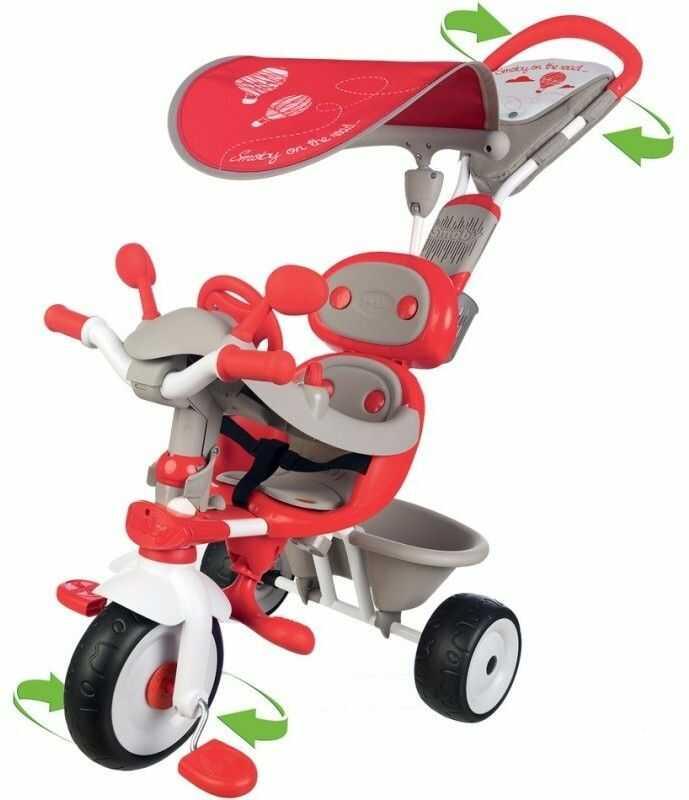 Smoby - Rowerek Baby Driver Comfort Mixte Czerwony 434208