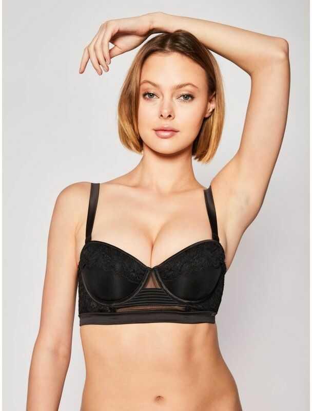 Calvin Klein Underwear Biustonosz bardotka 000QF5899E Czarny