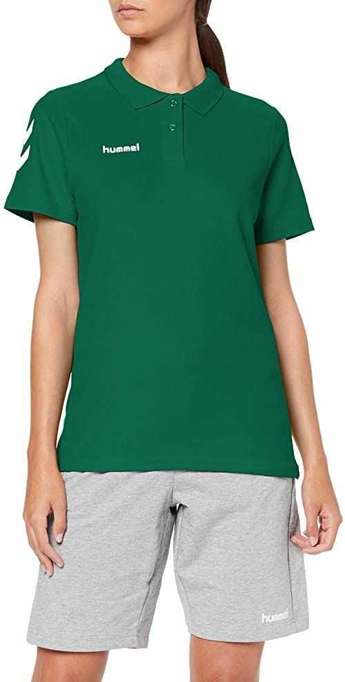 Hummel Hmlgo Cotton koszulka polo damska zielony Evergreen X-S
