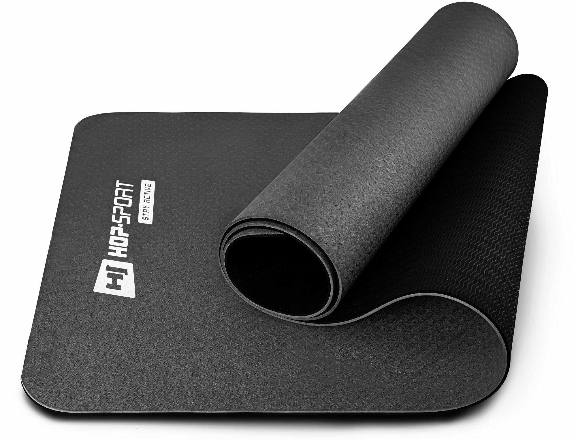 Mata fitness TPE 0,6cm - czarna