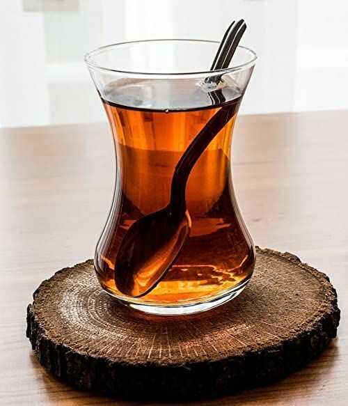 """Topkapi - Tureckie szklanki do herbaty """"Filiz"""" ~ 111 cc, zestaw 6 sztuk, przezroczyste"""