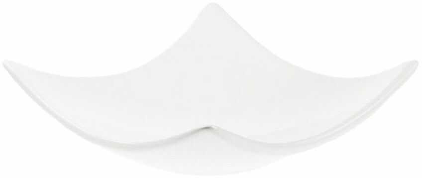 Świecznik ceramiczny SQUARE 12.5 x 12.5 cm biały