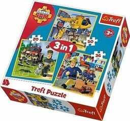 Puzzle 3w1 Strażak Sam w akcji TREFL