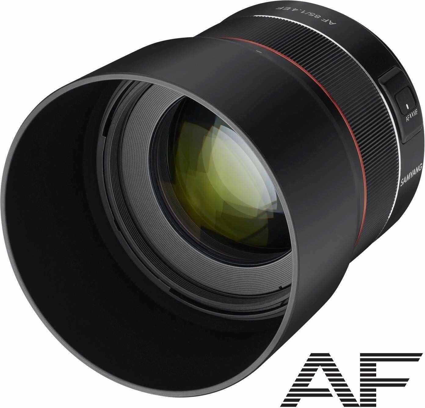 Samyang Obiektyw Tele do Zdjęć Portretowych z Szybkimi Migawkami DSLM i Autofokusem, Czarny, Ø 85 mm