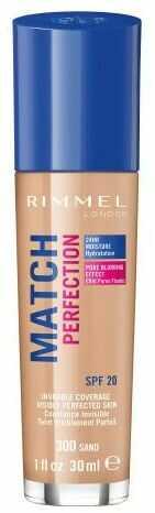 Rimmel London Match Perfection SPF20 podkład 30 ml dla kobiet 300 Sand
