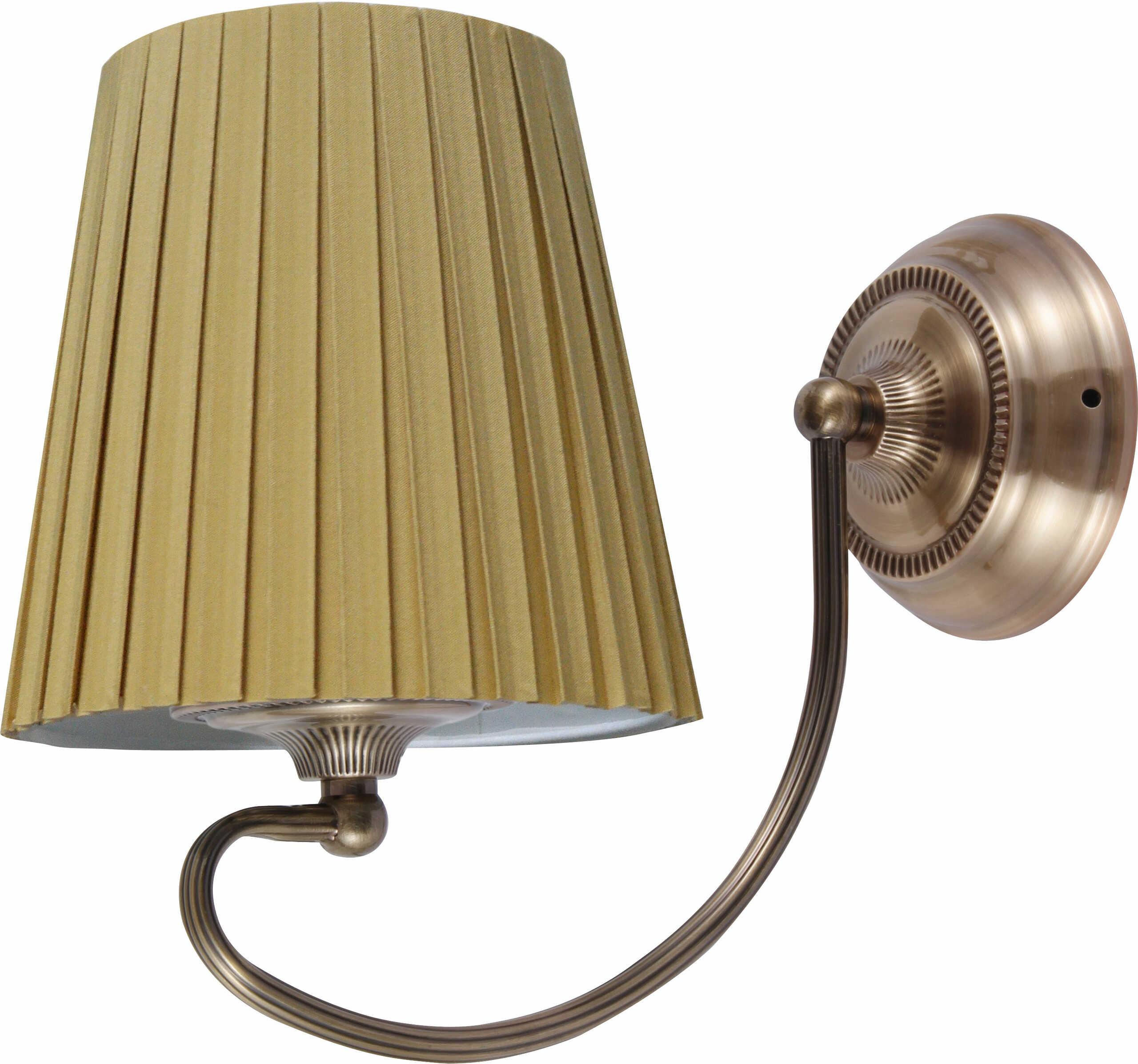 Candellux MOZART 21-33963 kinkiet lampa ścienna abażur miodowy 1X60W E27 patyna 16cm