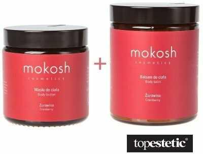 Mokosh Body Butter + Body Balm Cranberry ZESTAW Masło do ciała 120 ml + Balsam do ciała - Żurawina 180 ml