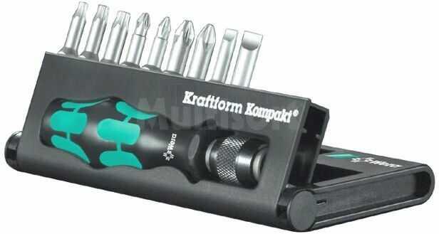 Zestaw końcówek wkrętakowych WERA Kraftform Kompakt 10 (E6,3) 9szt/25mm