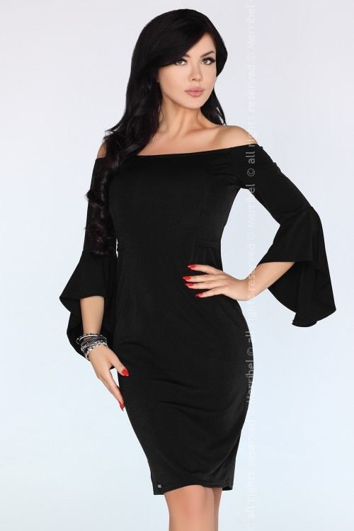 Yolandena Black FZ1734 sukienka
