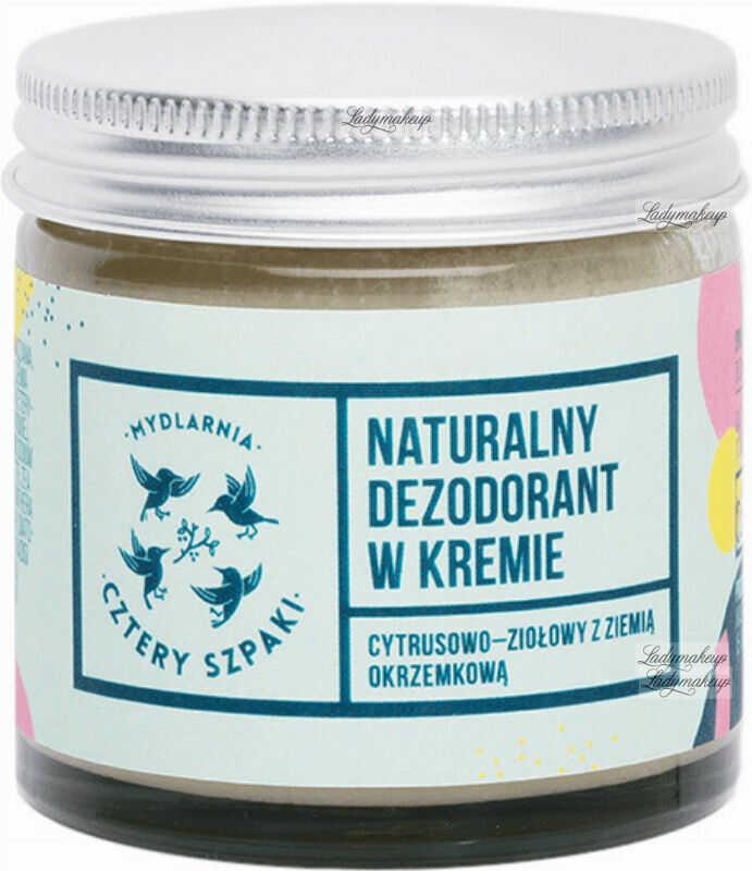 Mydlarnia Cztery Szpaki - Naturalny dezodorant w kremie - Cytrusowo-Ziołowy - 60 ml