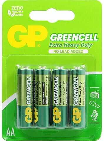 Bateria R6 AA 1,5V GP Greencell cynkowo-chlorkowa blister 4szt.
