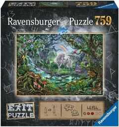 Ravensburger Puzzle 15030 Ravensburger Exit Jednorożec 759 Elementów Puzzle Dla Dorosłych (15030) Unikalne Elementy, Technologia Softclick - Klocki Pasują Idealnie