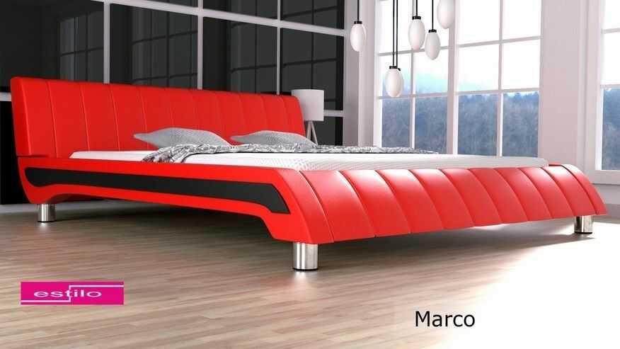 Łóżko sypialniane Marco - meble do sypialni velur
