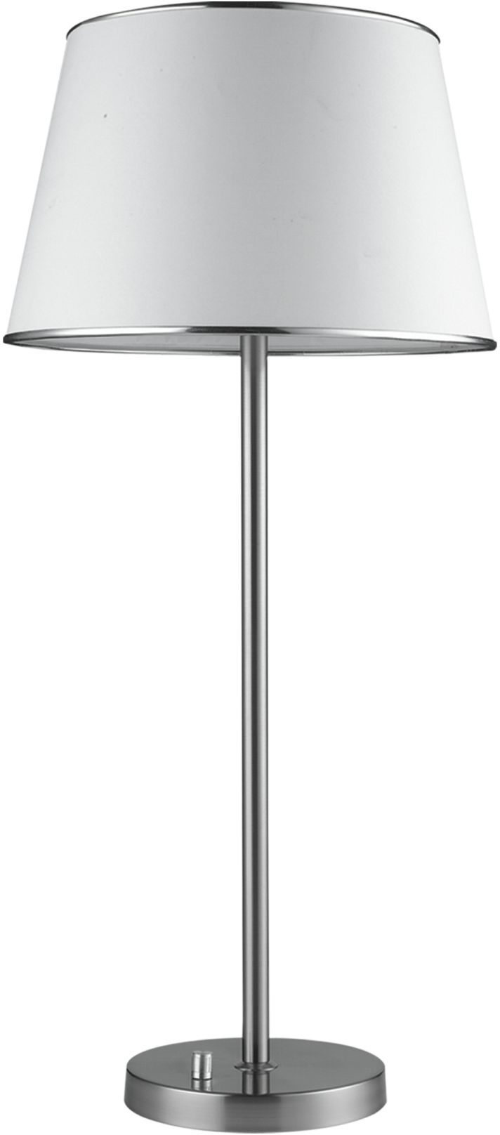 Candellux IBIS 41-00913 lampa stołowa abażur 1X40W E14 satyna nikiel 33cm