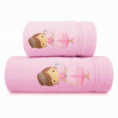 Ręcznik kąpielowy dziecięcy gruby 50x90 Księżniczka Spod Igły i Nitki