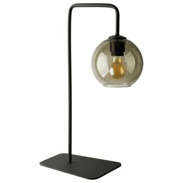 Lampka stołowa szklana dymiony klosz Monaco kula 9308 - Nowodvorski Do -17% rabatu w koszyku i darmowa dostawa od 299zł !