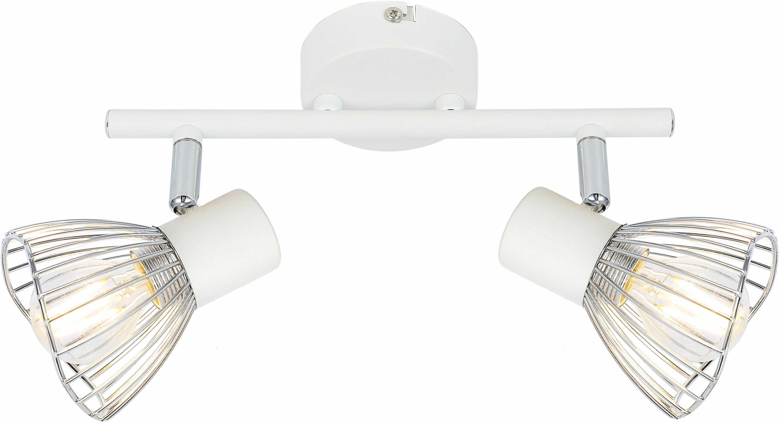 Candellux FLY 92-61966 oprawa oświetleniowa biała+chrom 2X40W regulacja klosza E1439cm