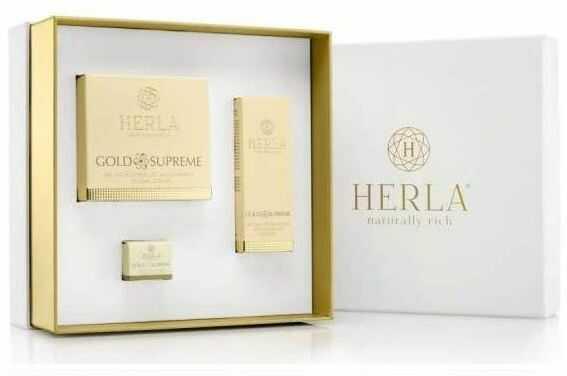 Herla Gold Supreme I - Zestaw krem do twarzy i żel do okolic oczu