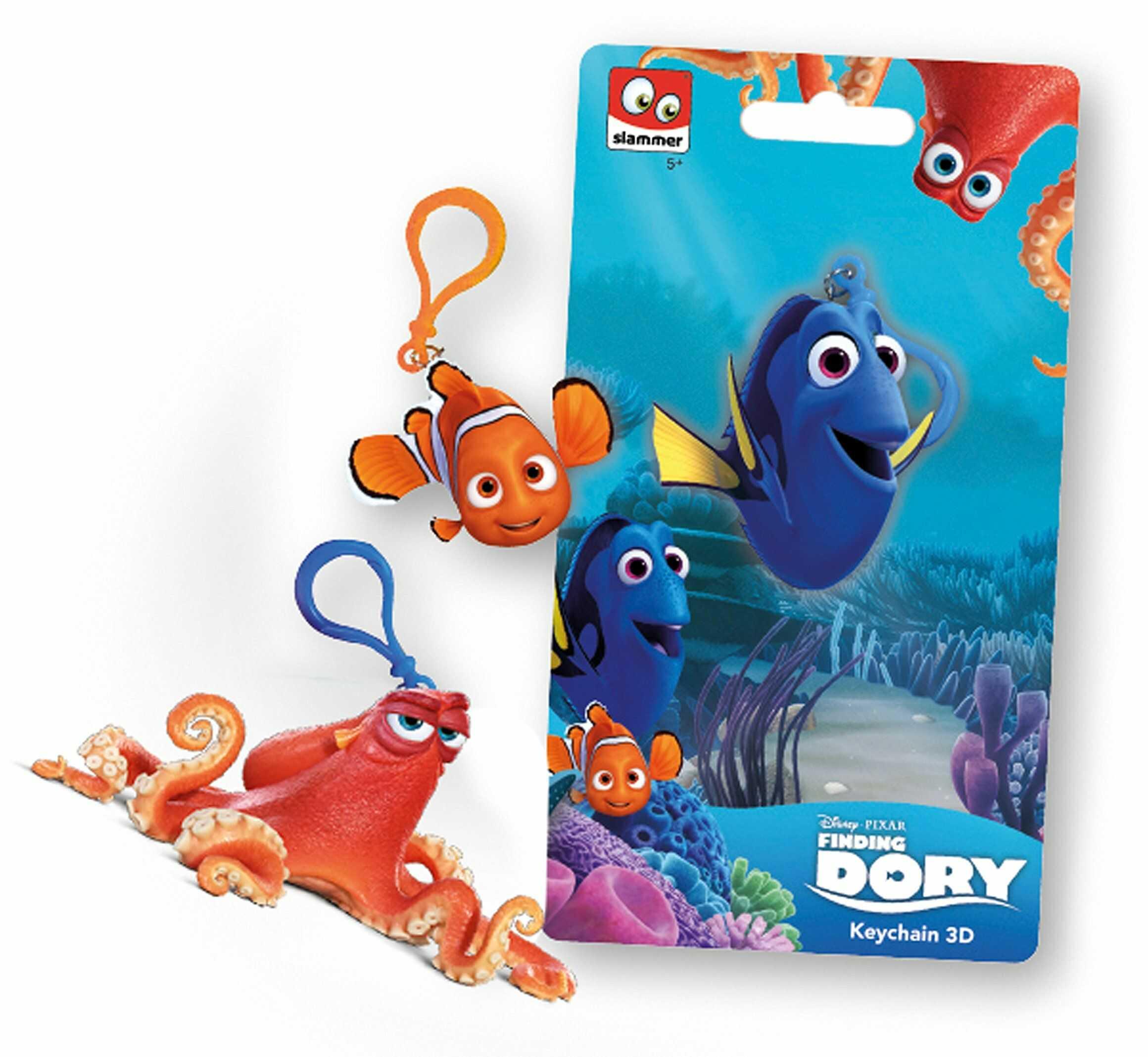 """Joy Toy 291122 """"Znalezienie 3 postaci Dory/Nemo i Hank"""" klips 3D na karcie zabezpieczającej"""