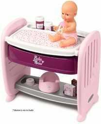 Smoby -Łóżeczka 2 w 1 pielęgniarka dla niemowląt dla lalek dla niemowląt 220355, fioletowa