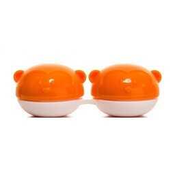 Pojemnik do soczewek Qcase - pomarańczowa małpka