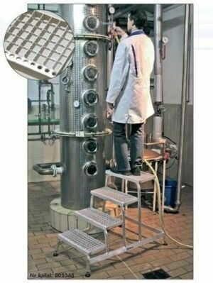 Pomost montażowy z kratki aluminiowej 5 stopni - 3m robocza