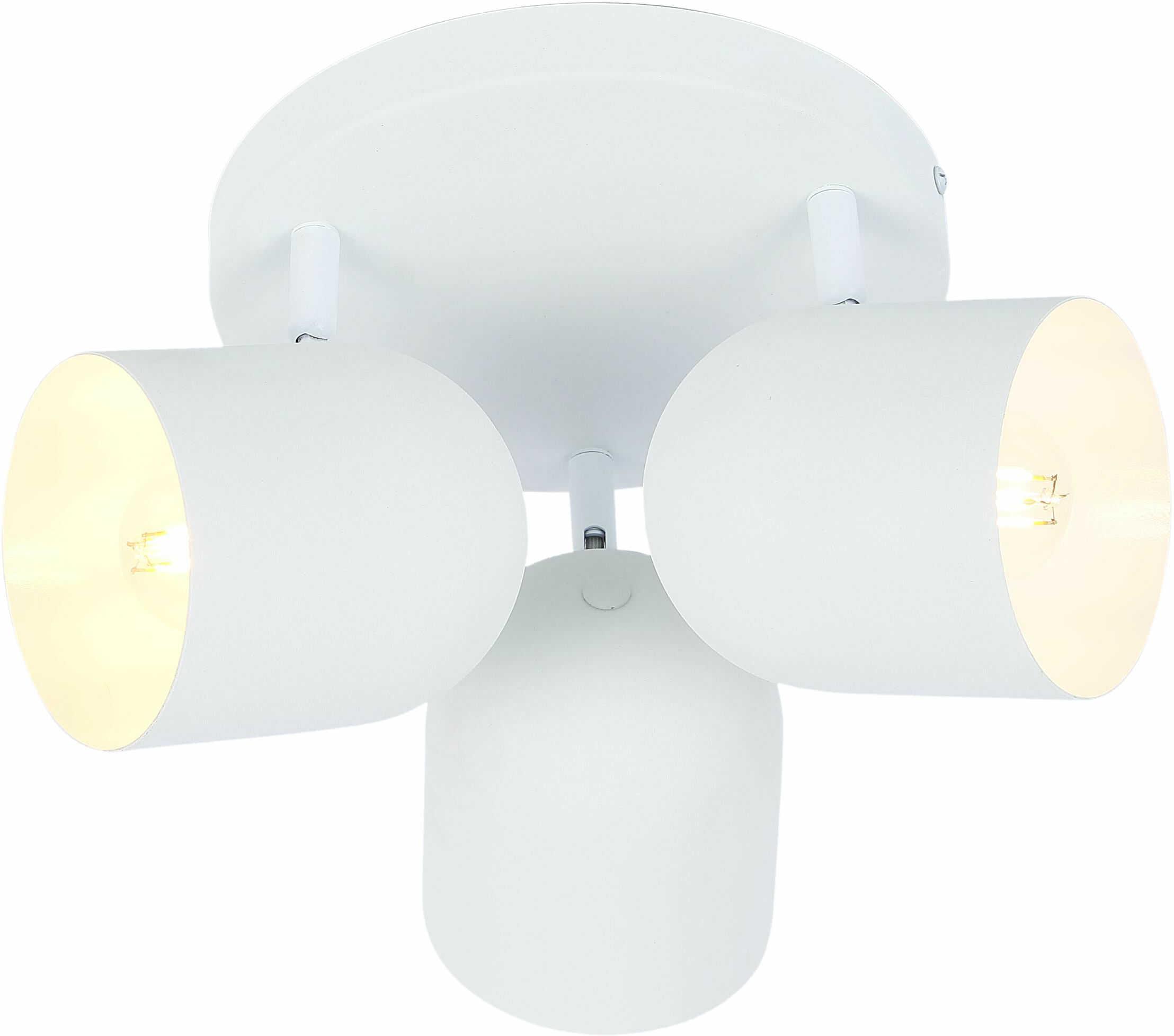 Candellux AZURO 98-63274 plafon lampa sufitowa biała metalowy klosz 3X40W E27 32cm