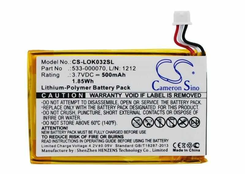 Logitech Ultratin Keyboard Cover / 533-000070 500mAh 1.85Wh Li-Polymer 3.7V (Cameron Sino)
