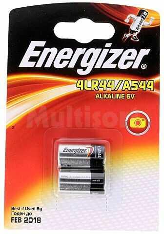 Bateria alkaliczna ENERGIZER 6V 4LR44 fi13x25mm 2szt.