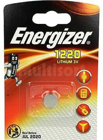 Bateria litowa 3V CR1220 ENERGIZER fi12,5x2mm 40mAh