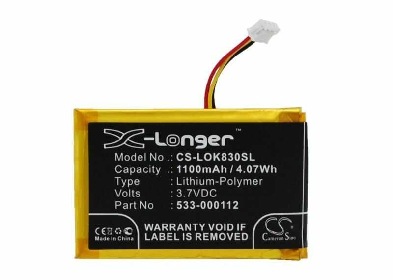 Logitech IIIuminated Living-Room Keyboard K830 / 533-000112 1100mAh 4.07Wh Li-Polymer 3.7V (Cameron Sino)