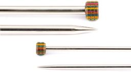 KNIT PRO KP10287 Nova Metal: Piny dziewiarskie: Pojedyncze zakończenie: 15 cm x 5,00 mm, srebrne