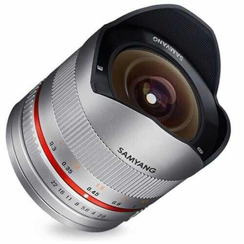 Samyang 8mm F2.8 Fuji X srebrny Fish-eye