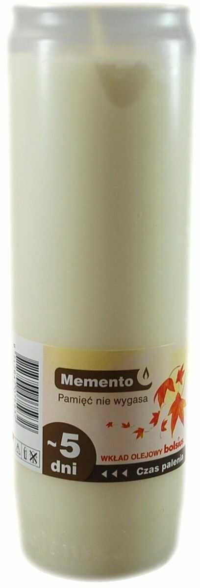 Bolsius Wkład do zniczy Olejowy Memento Biały nr 6 Wysoki