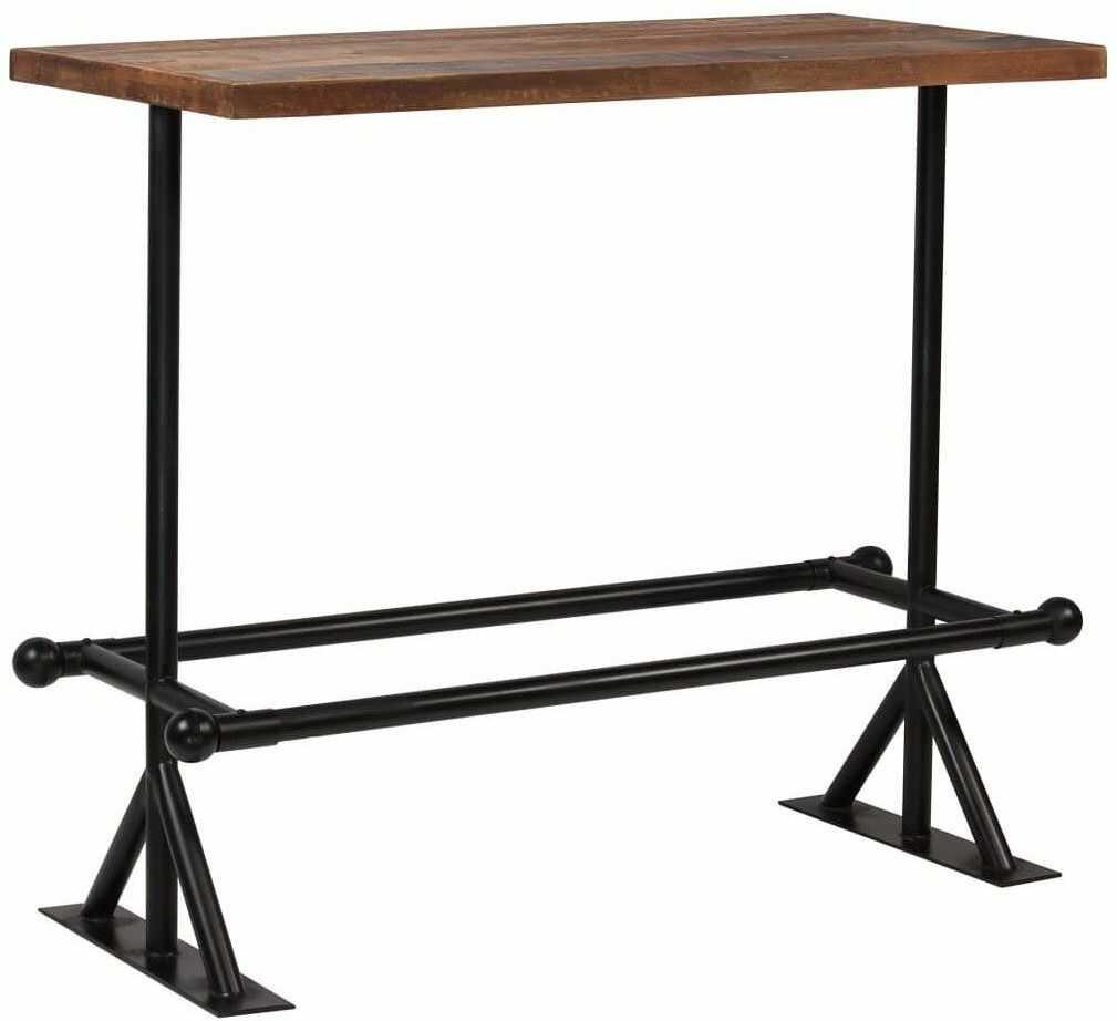 Stół barowy industrialny Ruth 3X  ciemnobrązowy