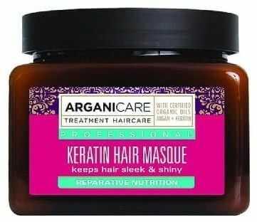 Arganicare Keratin Hair Masque - Naturalna maska do włosów z keratyną 350 ml