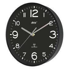 Zegar czarny sterowany radiowo 25cm