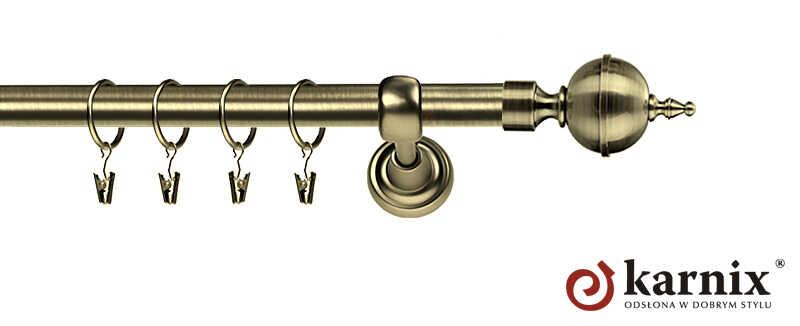 Karnisze Metalowe Rzymskie pojedynczy 19mm Roxy antyk mosiądz