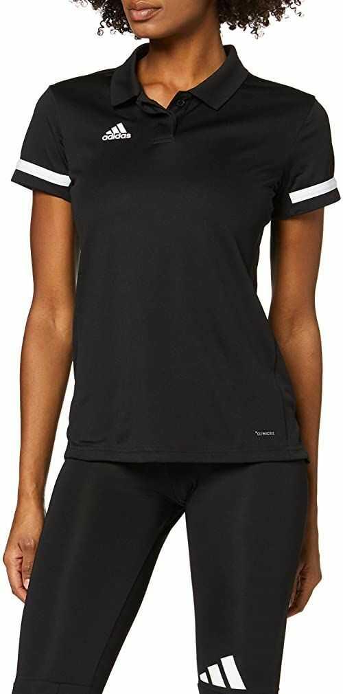 adidas Team19 koszulka polo damska czarny czarny/biały S