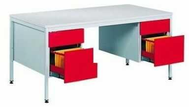 Metalowe biurko lekarskie BIM 052 z konterekami na format a4