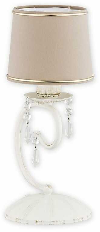 Barsa lampka stołowa 1 pł. / antyczna biel