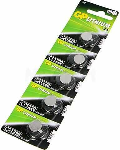 Bateria litowa 3V CR1220 GP fi12x2mm 35mAh 5szt.