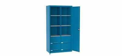 Szafa warsztatowa metalowa 6 półek 4 szuflady SL 110.21